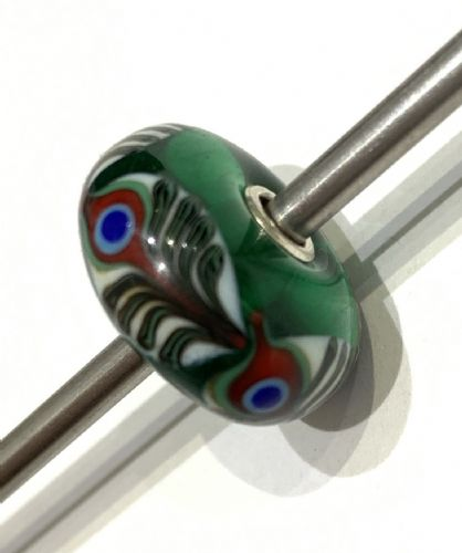 Jumbo Unique Green, Red, White And Black Trollbead JUMBO1000